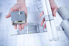 Constructino plans Stock Photo