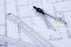 constructino plany zdjęcie royalty free