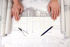 constructino plany obraz stock
