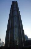 Constructio Wolkenkratzer JinMao Kontrollturm Stockfoto
