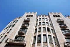 Construction à Barcelone (Espagne) Photo stock