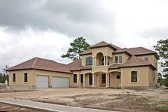 Construction à la maison de luxe 1 Photos libres de droits