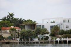 Construction à la maison de luxe Miami Beach Images libres de droits