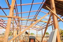 Construction à la maison neuve Images libres de droits