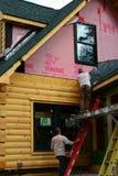 Construction à la maison neuve Photo stock