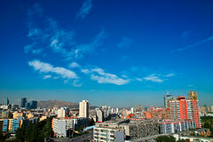 Construction à la ville d'Urumqi Images libres de droits