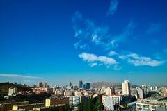 Construction à la ville d'Urumqi Photo stock