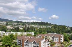 Construction à la ville de Coquitlam Images libres de droits