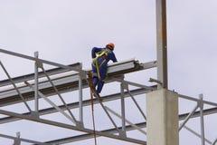 Construction élevée image stock