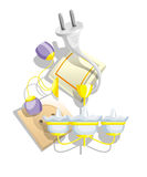 Construction_03. Subjects lighting and electric equipment for premises(rooms royalty free illustration
