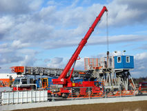 Construction 081. Demounting of some drilling equipment royalty free stock photo