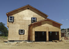 Construction. Photo of New Home Under Construction royalty free stock image