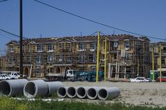 Construction. Apartments under construction in Ventura, CA Royalty Free Stock Photos