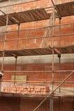 Construction. Of a brick house Stock Photos