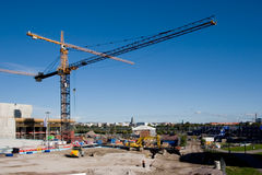Construction. Large construction site with cranes Royalty Free Stock Images