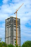 Construction. Of multi-dwelling buildings Stock Photo