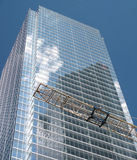 Construction. A glass and steel highrise on the way up in downtown Toronto, Canada Royalty Free Stock Images