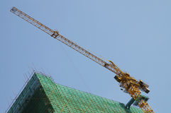 Construction. Site and huge crane royalty free stock image