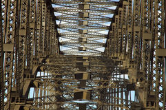Construction. Harbour bridge construction detail photo, steel and clenches Stock Photo