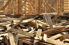 For construction. Wood piled up; are used for construction purposes Royalty Free Stock Photos