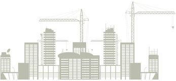 Construction. Big city under  construction (outline Stock Photos
