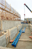 Construction_2. The worksite, construction, armature, framework , foundation Royalty Free Stock Image