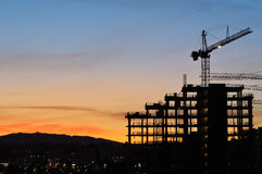 Construction of 2010 Winter Olympic Village Stock Photography