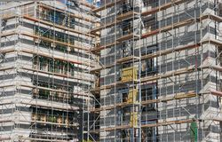 Construction. Concrete office building under construction Royalty Free Stock Photography