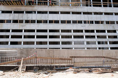 Construction. Building under construction. Slab elements, fence in front Stock Images