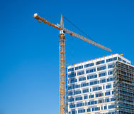 Construction. Of a new public building in sweden Stock Image