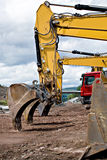 Construction. Machines on neu motorway in Germany royalty free stock photos