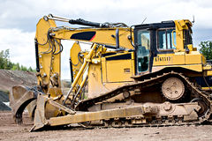 Construction. Machines on neu motorway in Germany royalty free stock photo