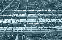 Construction. Photo of construction site in blue tone stock image