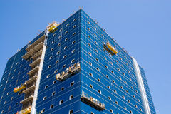 Construction. Of a new trading building Stock Image