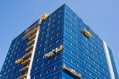 Construction. Of a new trading building Stock Photography