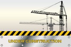 Construction. Architect built construction contractor crane Royalty Free Stock Photo