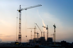Construction. Kind on construction in the evening on a background of the sky Stock Images