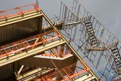 Construction. An industrial building under construction royalty free stock photography