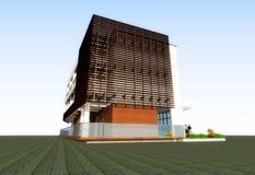 construction 3D résidentielle moderne illustration de vecteur