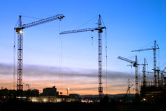 Construction. Kind on construction in the evening on a background of the sky Royalty Free Stock Image