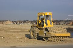 Construction. Truck, new houses and house's construction sites Royalty Free Stock Image