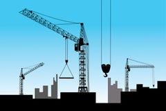 Construction. Vector - Construction of a new high-altitude building Royalty Free Stock Photos