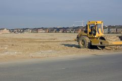 Construction. Truck, new houses and house's construction sites Stock Photography