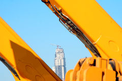 Construction. Bomming construction industry in the Gulf royalty free stock photos