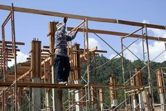 Construction. A house under construction Royalty Free Stock Photo