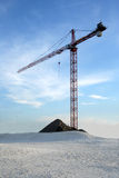 Construction. Crane in the seaside Royalty Free Stock Photo