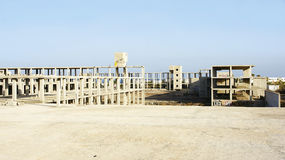 Construction abandoned by economic crisis Royalty Free Stock Photos