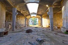 Construction abandonnée d'entrepôt Photo libre de droits