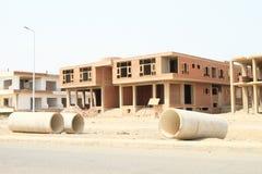 Construction abandonnée dans Marsa Alam image stock