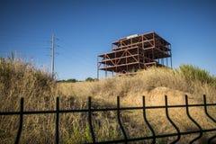 Construction abandonnée de bureaux en Sant Cugat del Valles Photos libres de droits